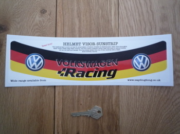 "Volkswagen Racing VW Style Helmet Visor Sunstrip Sticker. 12""."