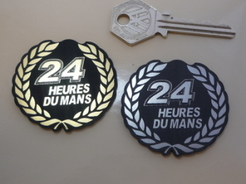 24 Heures Du Mans LeMans Le Garland Style Self Adhesive Car Badge. 2""