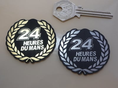 "24 Heures Du Mans LeMans Le Garland Style Self Adhesive Car Badge. 2"""