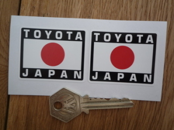 "Toyota Japan Style Stickers. 2"" Pair."