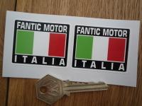 Fantic Motor Italia Tricolore Style Stickers. 2
