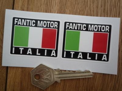 """Fantic Motor Italia Tricolore Style Stickers. 2"""" Pair."""