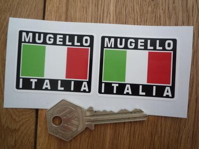 Mugello Italia Tricolore Style Stickers. 2