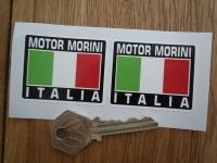 """Moto Morini Tricolore Style Stickers. 2"""" Pair."""