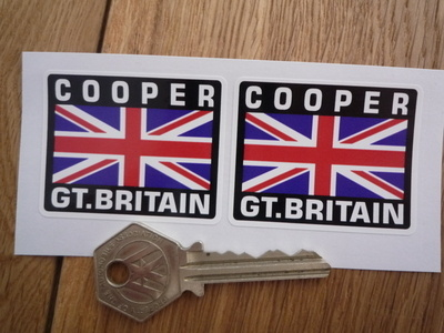 Cooper Great Britain Union Jack Style Stickers. 2