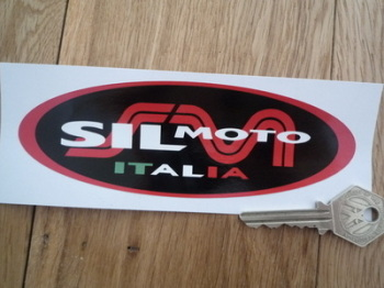 "Sil Moto Italia Exhausts Oval Sticker. 6""."