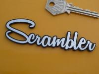 Scrambler Script Style Self Adhesive Bike Badge. 4