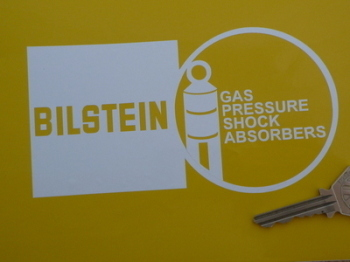 "Bilstein Shock Absorbers Shaped Cut Vinyl Stickers. 6"" Pair."