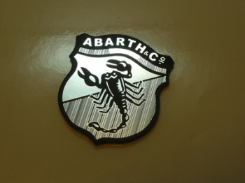Abarth & Co Scorpion Shield Style Laser Cut Magnet. 1.5""