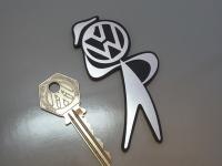 "VW Bubblehead Laser Cut Self Adhesive Car Badge. 3.5""."