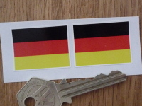 German Flag Oblong Stickers. 33mm Pair.