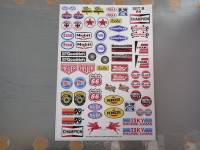 Model Racing Slot Car Sticker Set B. American.