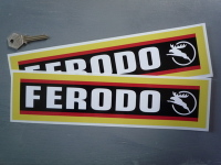 Ferodo Stag Style Oblong Stickers. 12