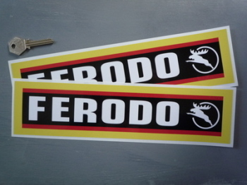 "Ferodo Stag Style Oblong Stickers. 12"" Pair."