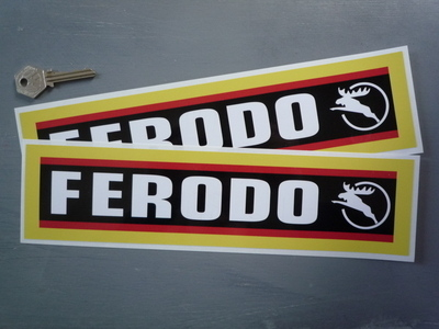 """Ferodo Stag Style Oblong Stickers. 12"""" Pair."""