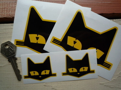 SEV Marchal Cats Head Stickers. 2