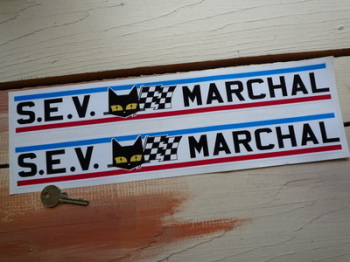 "SEV Marchal Long Stripe Stickers. 15"" or 25"" Pair."