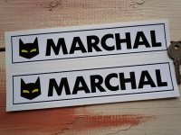 """SEV Marchal Cats Eyes Race Oblong Stickers. 8"""" Pair."""