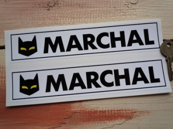 "SEV Marchal Cats Eyes Race Oblong Stickers. 8"" Pair."