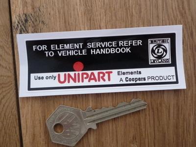 """British Leyland, Unipart & Coopers Element Sticker. 3.75""""."""