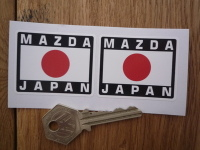 Mazda Japan Hinomaru Style Stickers. 2