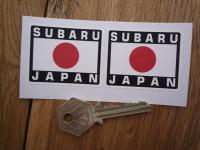 Subaru Japan Hinomaru Style Stickers. 2