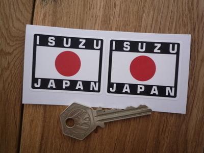 Isuzu Japan Hinomaru Style Stickers. 2
