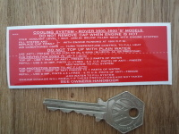 Rover 3500, 'S', P6, Cooling System Special Offer Sticker. 4