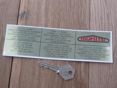 Citroen 2CV Oil Filter Under Bonnet Special Offer Sticker. 7