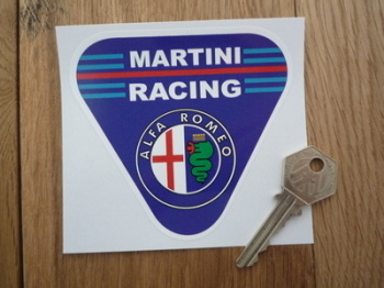 "Alfa Romeo Martini Racing Triangle Sticker. 4""."