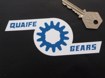 "Quaife Gears Shaped Stickers. 5"" Pair."