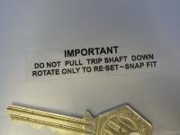 "Speedo Trip Reset Smiths Chronometric Larger Style Sticker. 2.5""."