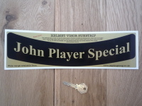 John Player Special JPS Curved Helmet Visor Sunstrip Sticker. 12