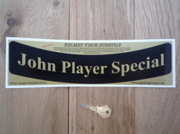 "John Player Special JPS Curved Helmet Visor Sunstrip Sticker. 12""."