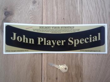 "John Player Special JPS Curved Helmet Visor Sunstrip Sticker. 12""."