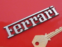 "Ferrari Text Laser Cut Self Adhesive Car Badge. 3"" or 4""."