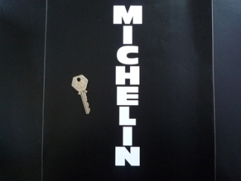 "Michelin Cut Vinyl Traditional Vertical Text Stickers. 5"" or 10"" Pair."