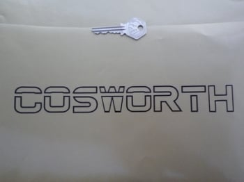 "Cosworth Text Outline Cut Out Sticker. 9.5""."