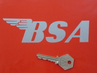 "BSA Cut Vinyl Rounded Style Gas Tank Stickers. 4"", 5"" or 6"" Pair."