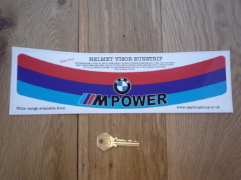 "BMW M Power Motorsport Colours Helmet Visor Sunstrip Sticker. 12""."