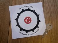 "Rallye Monte-Carlo, Automobile Club De Monaco Sticker. 5""."