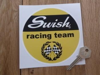 "Swish Racing Team Circular Sticker. 5""."