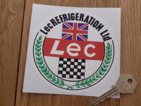 "Lec Refrigeration Ltd F1 Circular Sticker. 4.5""."