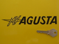 "MV Agusta Text Cut Vinyl Stickers. 7"" or 10"" Pair."