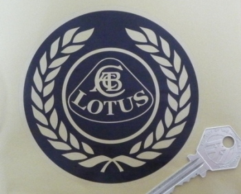 "Lotus Black & Clear Garland Roundel Sticker. 4""."