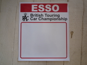 "Esso RAC British Touring Car Championship Door Panel Stickers. 17"" Pair."