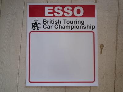 """Esso RAC British Touring Car Championship Door Panel Stickers. 17"""" Pair."""