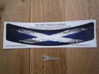 Scotland Saltire Flag Worn & Distressed Style Curved Helmet Visor Sticker. 12