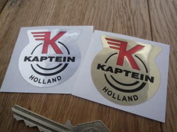 """Kaptein Holland Headstock Style Sticker. 2""""."""