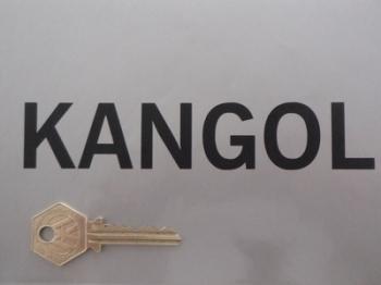 """Kangol Helmets Cut Vinyl Text Stickers. 6"""" Pair."""